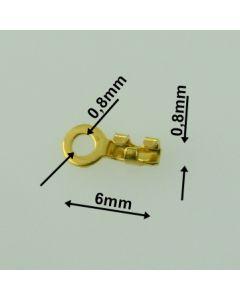 Szerokość 0,8 mm/Zakończenie srebrne DO ZACISKANIA Ag925-ZŁOCONE