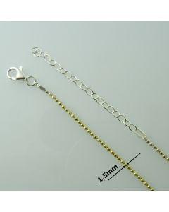 Łańcuch srebrny gotowy KULECZKI DIAMENTOWANE Ag925 typ:CPF150DOD