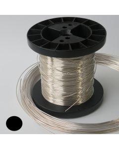 Drut srebrny Ag930 0,4mm twardy Okrągły