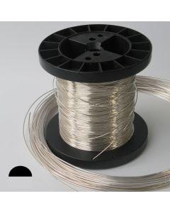 Drut srebrny Ag930 5mm Półokrągły