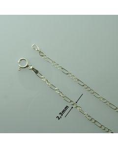 Łańcuch gotowy srebrny FIGARO Ag925 typ:FIB060