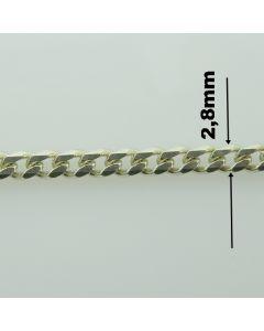Łańcuch srebrny M/GD080/AG z metra-PANCER