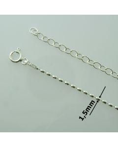 Łańcuch gotowy srebrny OLIWKI Ag925 typ:OV150/AG