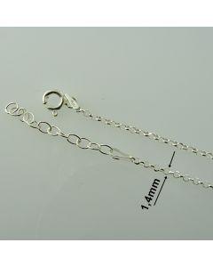 Łańcuch gotowy srebrny ROLO Ag925 typ:R001D/AG-45cm