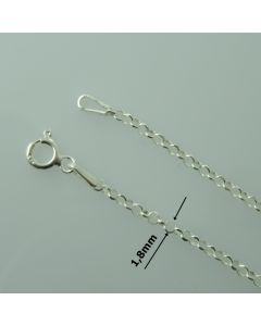 Łańcuch gotowy srebrny ROLO Ag925 typ:R002AD