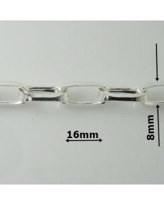 Łańcuch srebrny M/R049/AG z metra-ROLO OVAL