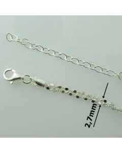 Łańcuch gotowy srebrny Ag925 typ:TR69 -długość 45 cm