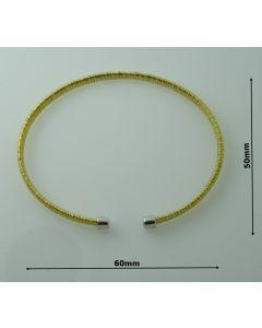 Bransoletka srebrna Ag925 typ:W/CH-2/Au wymiar 6cm X 5cm ZŁOCONA