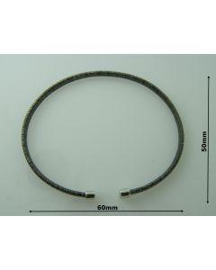 Bransoletka srebrna  Ag925 typ:W/CH-2/RUT wymiar 6cm X 5cm RODOWANA
