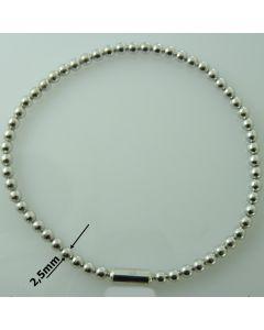 Bransoletka ELASTYCZNA srebrna  Ag925 typ:W/CH-4/ALL wymiar 18cm RODOWANA