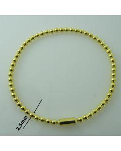 Bransoletka ELASTYCZNA srebrna  Ag925 typ:W/CH-4/Au wymiar 18cm ZŁOCONA