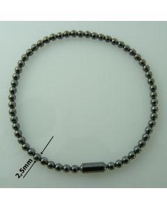 Bransoletka ELASTYCZNA srebrna  Ag925 typ:W/CH-4/RUT wymiar 18cm RODOWANA