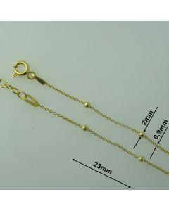 Bransoletka srebrny Ag875 typ: W/875/ELE-2/Au -17cm +3  ZŁOCONA