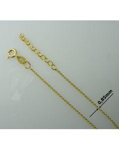 Łańcuch gotowy srebrny Ag925 typ: FZFDD030/Au długość 80cm plus regulacja ZŁOCONY