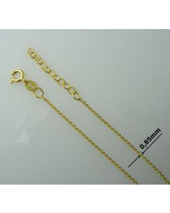 Łańcuch gotowy srebrny Ag925 typ: FZFDD030/Au długość 60cm plus regulacja ZŁOCONY